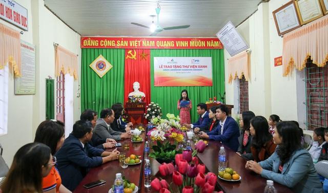 PTI trao tặng Thư viện xanh cho Trường Tiểu học Kỳ Lâm, Hà Tĩnh  - Ảnh 1.