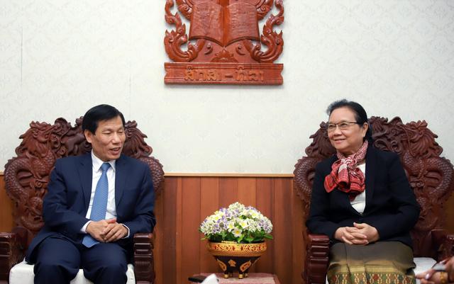 Hội đàm giữa Bộ trưởng Bộ VHTT&DL VN và Bộ trưởng Bộ GD&TT Lào. - Ảnh 6.