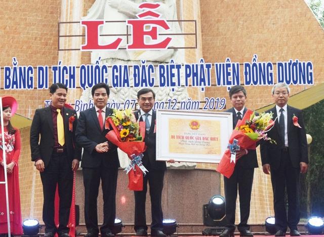 Quảng Nam: Đón Bằng Di tích quốc gia đặc biệt Phật viện Đồng Dương - Ảnh 1.