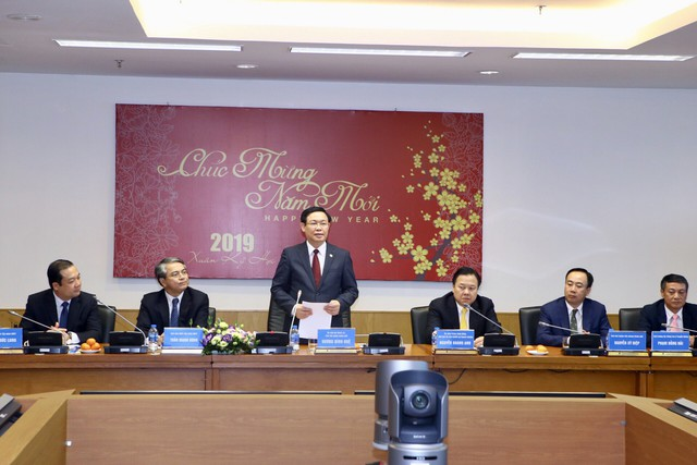 Phó Thủ tướng Vương Đình Huệ thăm, làm việc tại Uỷ ban Quản lý vốn nhà nước  - Ảnh 1.