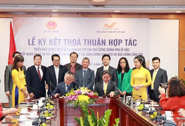 Bộ Công Thương và Bưu điện Việt Nam hợp tác đẩy nhanh quá trình cải cách thủ tục hành chính - Ảnh 1.