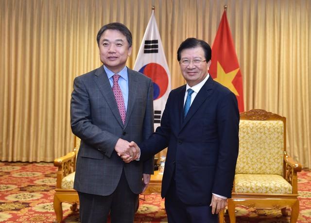 Phó Thủ tướng Trịnh Đình Dũng tiếp Phó Chủ tịch Tập đoàn Hyundai - Ảnh 1.