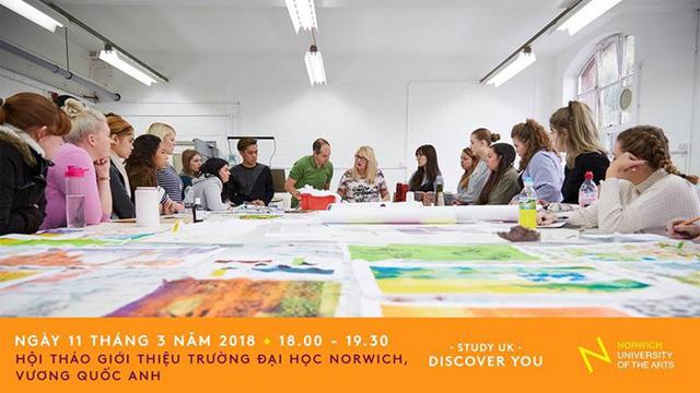 Hội thảo giới thiệu Đại học Nghệ thuật Norwich với học bổng lên đến £3,500 - Ảnh 1.