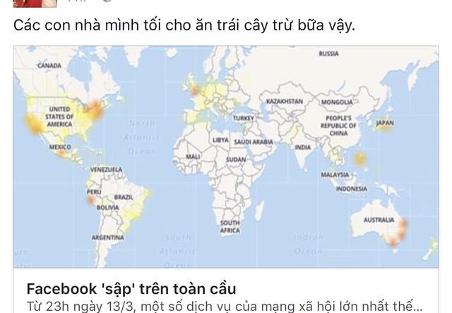 Facebook chết lâm sàng nhiều giờ, dân bán hàng online kêu trời - Ảnh 1.