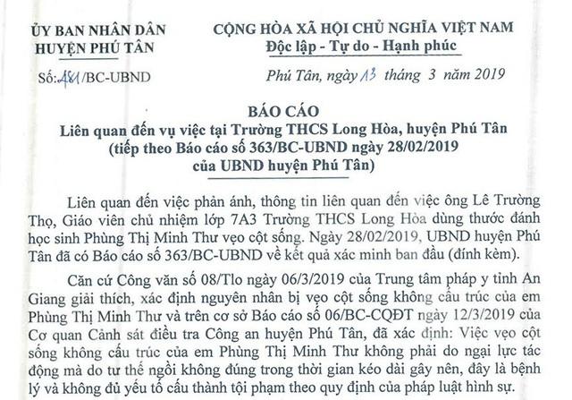 Thầy giáo đánh học sinh đến vẹo cột sống ở An Giang được… giải oan! - Ảnh 1.