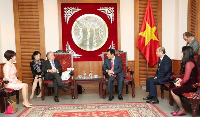 Bộ trưởng Nguyễn Ngọc Thiện tiếp tỉ phú Jean Todt -  Chủ tịch Liên đoàn Ô tô Quốc tế - Ảnh 1.