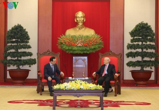 Tổng Bí thư, Chủ tịch nước tiếp đoàn Đảng Dân chủ Đồng hành Hàn Quốc - Ảnh 2.