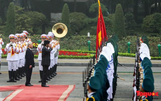 Tổng Bí thư, Chủ tịch nước Nguyễn Phú Trọng chủ trì Lễ đón chính thức Quốc vương Brunei thăm cấp Nhà nước tới Việt Nam - Ảnh 7.