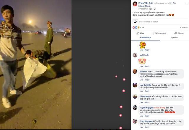 Phan Văn Đức, Hùng Dũng kêu gọi CĐV nhặt rác ngoài sân Mỹ Đình - Ảnh 1.