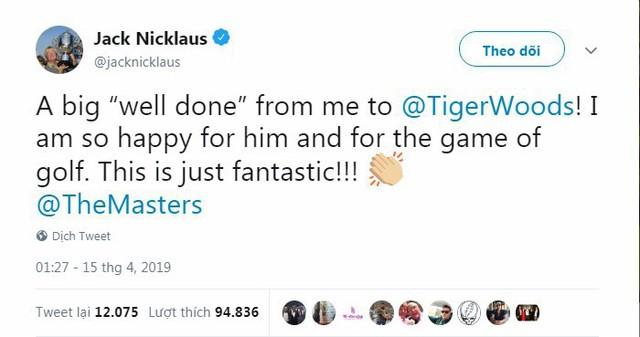 Tổng thống Trump, Obama và hàng loạt ngôi sao hân hoan chúc mừng chiến thắng của huyền thoại golf Tiger Woods trong giải Master 2019 - Ảnh 3.