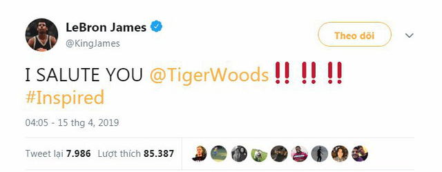 Tổng thống Trump, Obama và hàng loạt ngôi sao hân hoan chúc mừng chiến thắng của huyền thoại golf Tiger Woods trong giải Master 2019 - Ảnh 9.