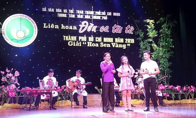 Liên hoan Đờn ca tài tử thành phố Hồ Chí Minh 2019 - Giải Hoa Sen Vàng - Ảnh 1.