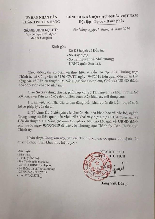 Tạm dừng triển khai dự án Bến du thuyền Đà Nẵng - Ảnh 1.