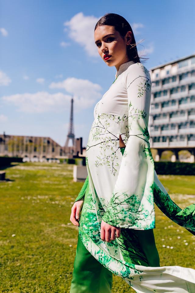 Áo dài Việt tung bay trên quảng trường UNESCO của Pháp - Ảnh 6.