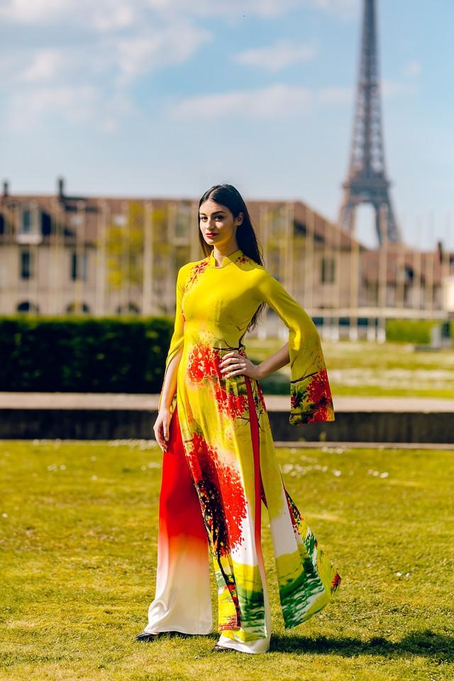 Áo dài Việt tung bay trên quảng trường UNESCO của Pháp - Ảnh 10.