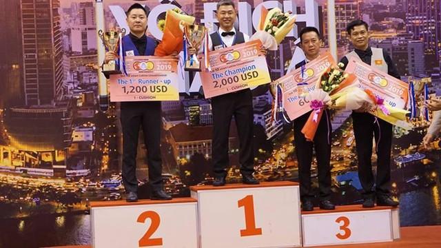 Việt Nam đoạt Vàng trong ngày thi đấu đầu tiên của Giải Vô địch Billiards châu Á năm 2019 - Ảnh 1.