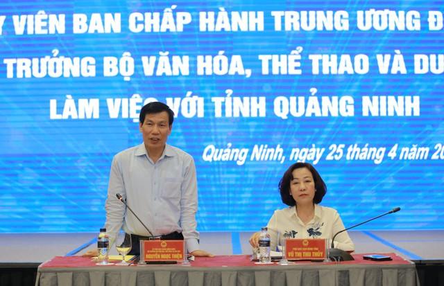 """Bộ trưởng Nguyễn Ngọc Thiện: """"Di sản chính là linh hồn, sản phẩm du lịch hàng đầu của tỉnh Quảng Ninh"""" - Ảnh 1."""