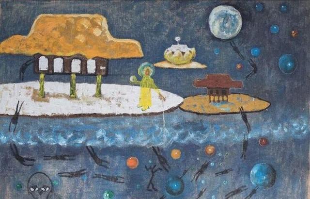 Cuộc chơi Bad painting của nhóm 5 họa sĩ tại Hà Nội - Ảnh 1.
