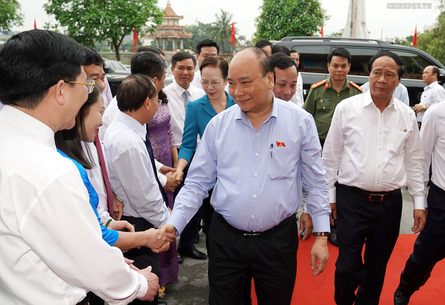 Hình ảnh Thủ tướng Nguyễn Xuân Phúc tiếp xúc cử tri TP. Hải Phòng - Ảnh 1.