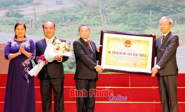Công bố di tích quốc gia đặc biệt Đường Trường Sơn - Đường Hồ Chí Minh tại Bình Phước - Ảnh 1.