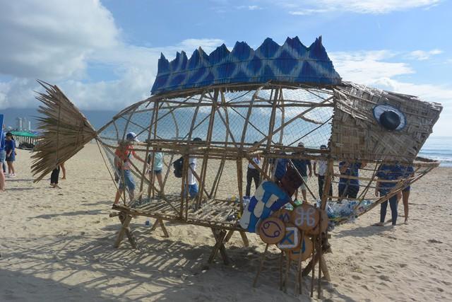 """Xuất hiện Bống (Goby) """"ăn"""" rác thải nhựa trên bãi biển Đà Nẵng - Ảnh 1."""