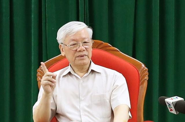 Tổng Bí thư, Chủ tịch nước Nguyễn Phú Trọng chủ trì họp lãnh đạo chủ chốt - Ảnh 2.