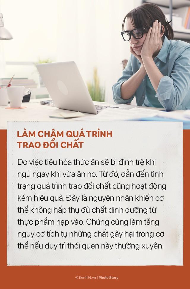 Ngoài việc khiến bạn tăng lượng mỡ thừa, nằm ngủ ngay sau khi ăn trưa còn có những tác hại này - Ảnh 4.