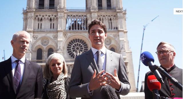 Thủ tướng Canada đề xuất hỗ trợ Pháp khôi phục Nhà thờ Đức bà Paris - Ảnh 1.