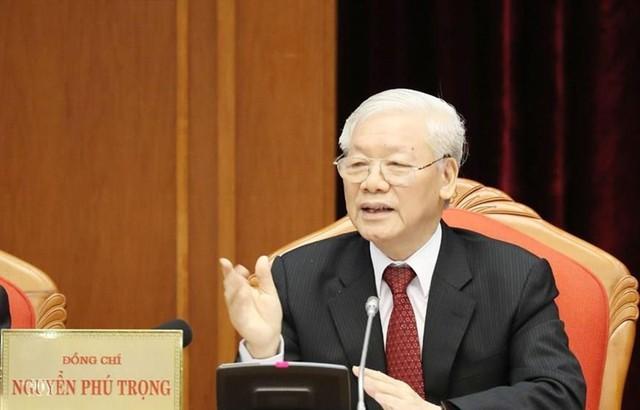 Tổng Bí thư, Chủ tịch nước Nguyễn Phú Trọng khai mạc Hội nghị Trung ương 10 - Ảnh 1.