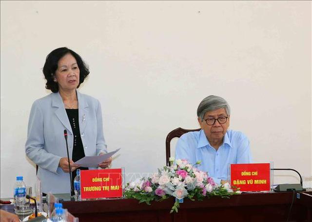 Bà Trương Thị Mai làm việc với Liên hiệp các Hội Khoa học và Kỹ thuật - Ảnh 1.