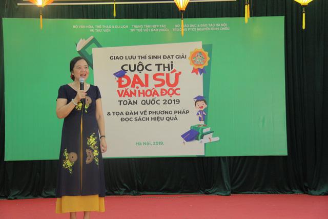 Giao lưu các thí sinh đạt giải Cuộc thi Đại sứ Văn hóa đọc năm 2019 - Ảnh 1.