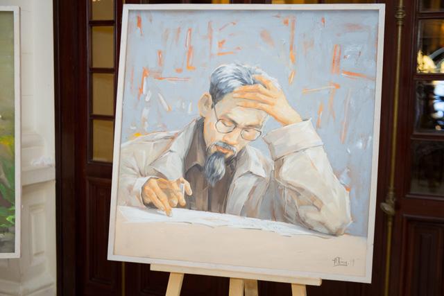 Dâng Bác những bức tranh quý tại triển lãm Bác để tình thương cho chúng con - Ảnh 4.