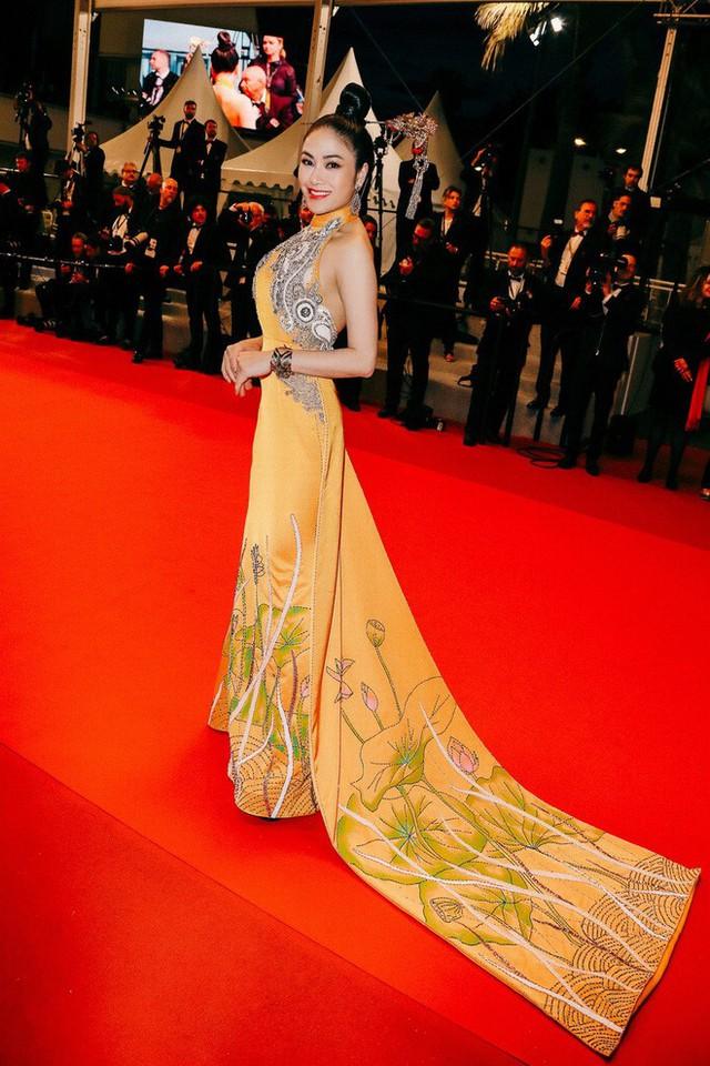 Hoa hậu Tuyết Nga tại Cannes: Tự hào khi khoác lên mình bộ trang phục mà nhìn vào có thể biết tôi là người Việt Nam - Ảnh 2.