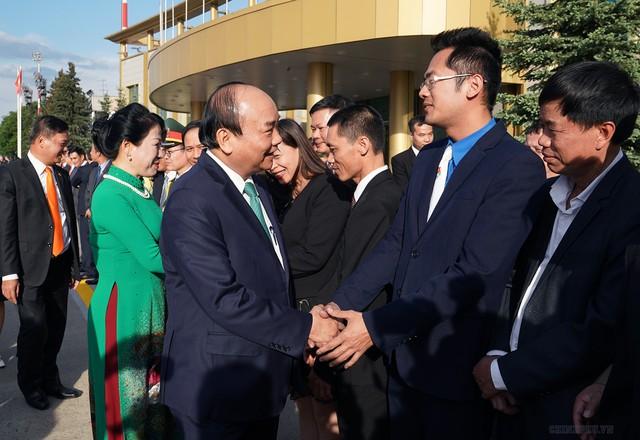 Hình ảnh Lễ đón chính thức Thủ tướng Nguyễn Xuân Phúc tại Thủ đô Moscow (Nga) - Ảnh 6.