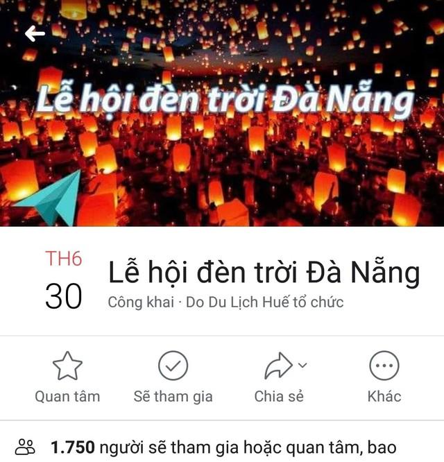 """Không có chuyện tổ chức """"Lễ hội Đèn trời quốc tế Đà Nẵng 2019"""" - Ảnh 1."""