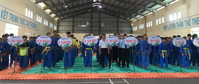 Khai mạc Giải Vovinam trẻ và vô địch tỉnh Đồng Tháp năm 2019 - Ảnh 1.