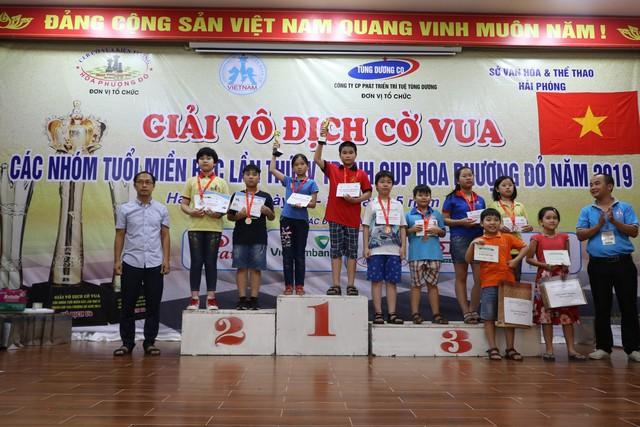 Bế mạc Giải vô địch cờ vua các nhóm tuổi miền Bắc lần thứ IV tranh Cúp Hoa Phượng Đỏ 2019 - Ảnh 1.