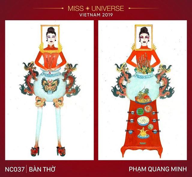 Tranh cãi dữ dội với thiết kế Bàn thờ trong cuộc bình chọn trang phục để Hoàng Thuỳ dự Miss Universe 2019  - Ảnh 1.