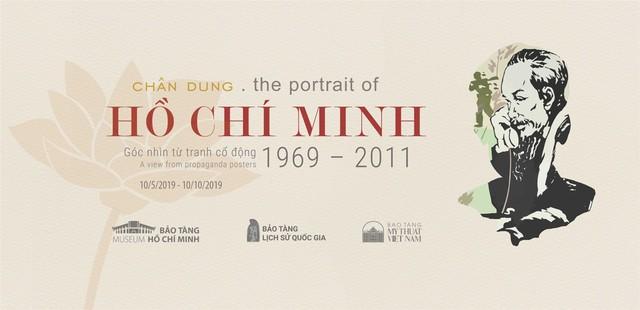 Trưng bày 60 tác phẩm chuyên đề Chân dung Hồ Chí Minh - Góc nhìn từ tranh cổ động - Ảnh 1.