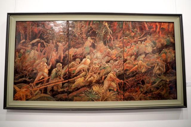 Những bức tranh tái hiện kí ức hào hùng của chiến thắng lịch sử Điện Biên Phủ sau 65 năm - Ảnh 6.