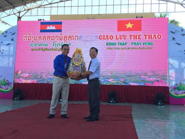 Sôi nổi giao lưu thể thao Đồng Tháp và Prayveng – Campuchia - Ảnh 2.