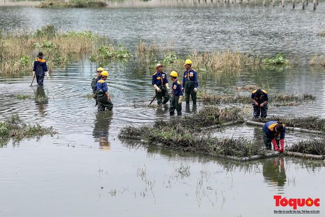 Hà Nội tăng cường công nhân dọn dẹp công viên 300 tỷ  đang bị ô nhiễm nặng - Ảnh 6.
