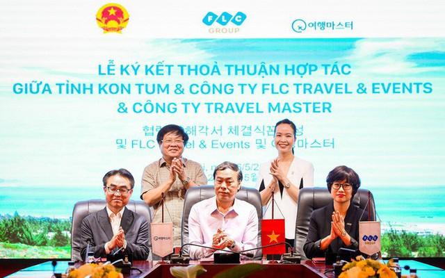 Biên bản ghi nhớ 3 bên giữa FLC Travel & Events,   Travel Master (Hàn Quốc) và tỉnh Kon Tum - Ảnh 1.
