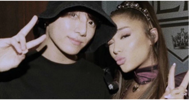 Đến Ariana Grande cũng phải khoe hình chụp cùng BTS: Hãy xem bên trong bức ảnh? - Ảnh 1.