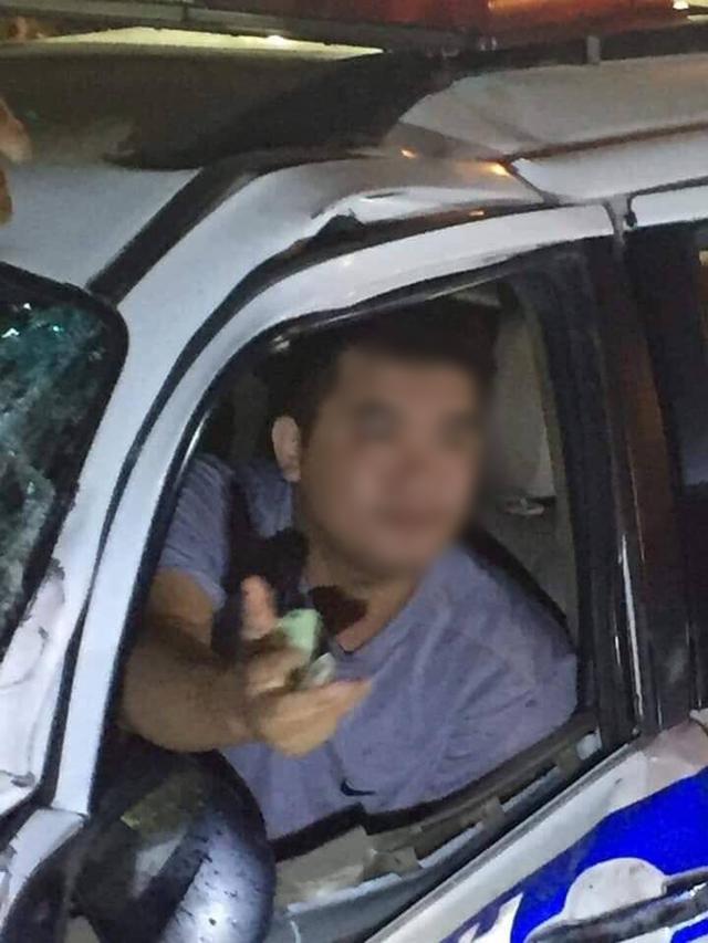 Tài xế lái xe CSGT ở Bình Dương có dấu hiệu dùng rượu bia khi gây tai nạn khiến 1 người tử vong - Ảnh 3.
