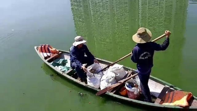 Cá chết nổi giữa hồ trung tâm Đà Nẵng - Ảnh 2.