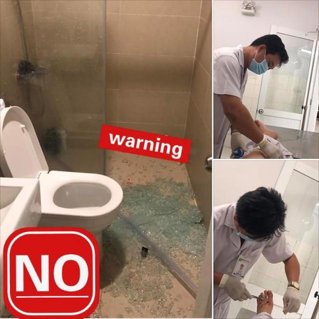 Nghệ sĩ hài Anh Đức gặp tai nạn trong nhà tắm, phải khâu hơn 20 mũi - Ảnh 1.