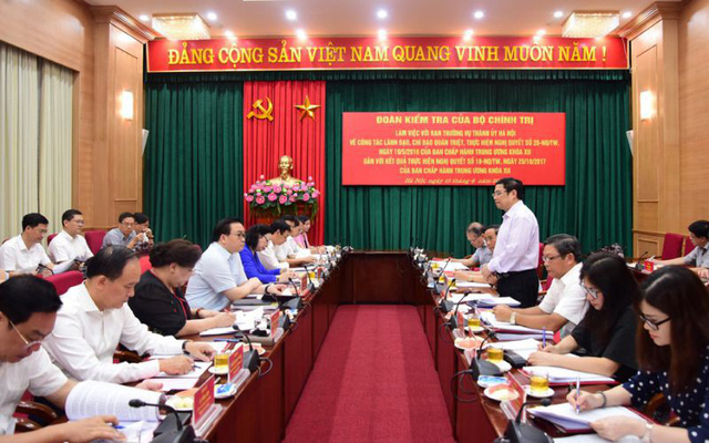 Bộ Chính trị kiểm tra công tác tổ chức, cán bộ tại Hà Nội - Ảnh 1.