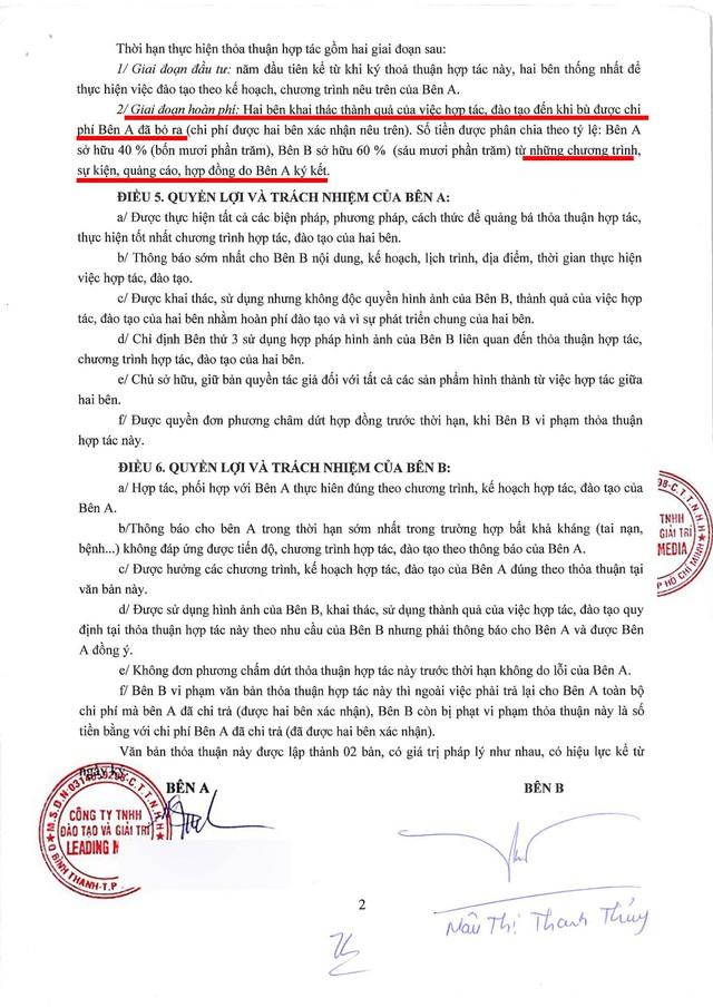 """""""Ông trùm Hoa hậu"""" Phúc Nguyễn công khai hợp đồng không có con số 5 tỉ mà Mâu Thuỷ """"hoang tưởng"""" - Ảnh 2."""