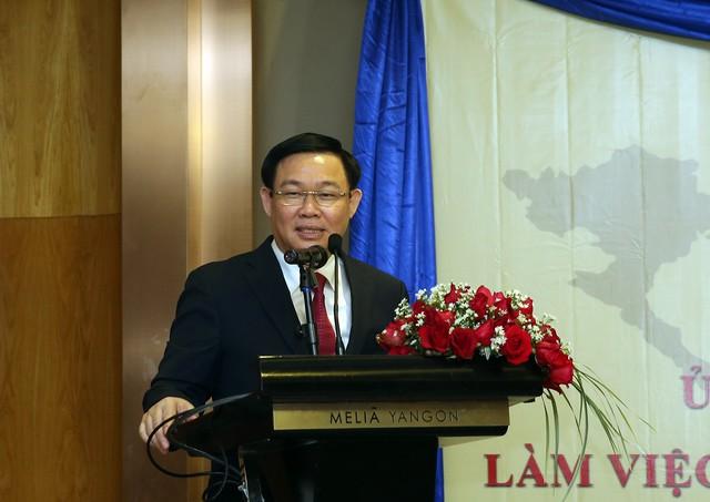 Phó Thủ tướng Vương Đình Huệ động viên các doanh nghiệp Việt Nam ở Myanmar   - Ảnh 1.